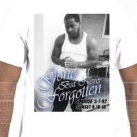 Gone But Never Forgotten - Photo shirt stock- Gildan Adult Softstyle Cotton T-Shirt