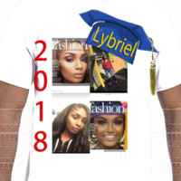 Lybriel' Class of 2018 shirt - Photo shirt stock- Gildan Adult Softstyle Cotton T-Shirt