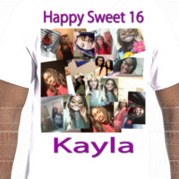 Happy Sweet 16 Kayla - Photo shirt stock- Gildan Adult Softstyle Cotton T-Shirt