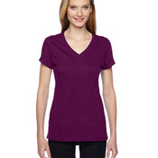 Ladies' Softspun™ Cotton Jersey Junior V-Neck T-Shirt