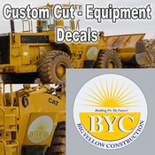 Extra Large Equipment Decals - Removable Vehicle Stickers