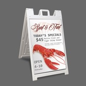 Signicade A-Frame Black 24x36 graphic area