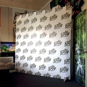 "96"" x 96"" step and repeat Backdrop Display"