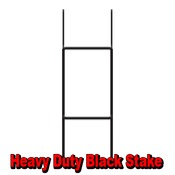 Heavy Duty Black Stake