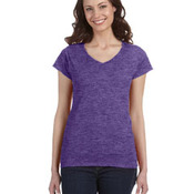 Ladies' SoftStyle® 4.5 oz. Fitted V-Neck T-Shirt