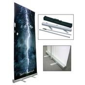 "Retractable Banner Stand 33.5"" x 79"""
