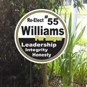 Shaped Yard Signs
