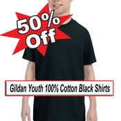 Clearance Sale Youth Black T-Shirt