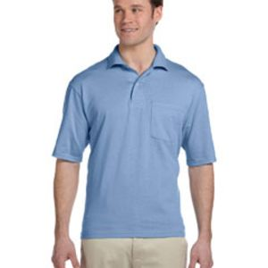 5.6 oz., 50/50 Jersey Pocket Polo with SpotShield™ Thumbnail