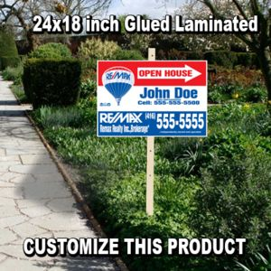 24x18 inch Glued Real Estate Sign Laminated Thumbnail