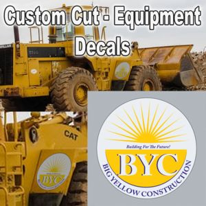 Extra Large Equipment Decals - Removable Vehicle Stickers Thumbnail