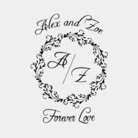 Forever Love Initial Wreath Thumbnail