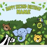 Jungle Birthday Template Thumbnail