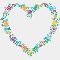 Heart Shaped Flower Frame Thumbnail