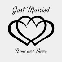 Just Married Hearts Thumbnail